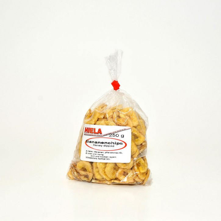 Bananenchips ger., gesüßt, 250 g