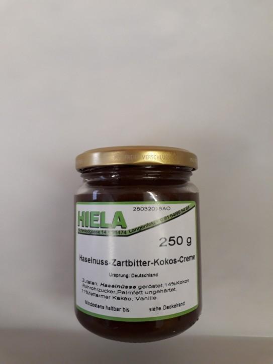 Haselnuss-Zartbitter-Kokos-Creme, 250 g