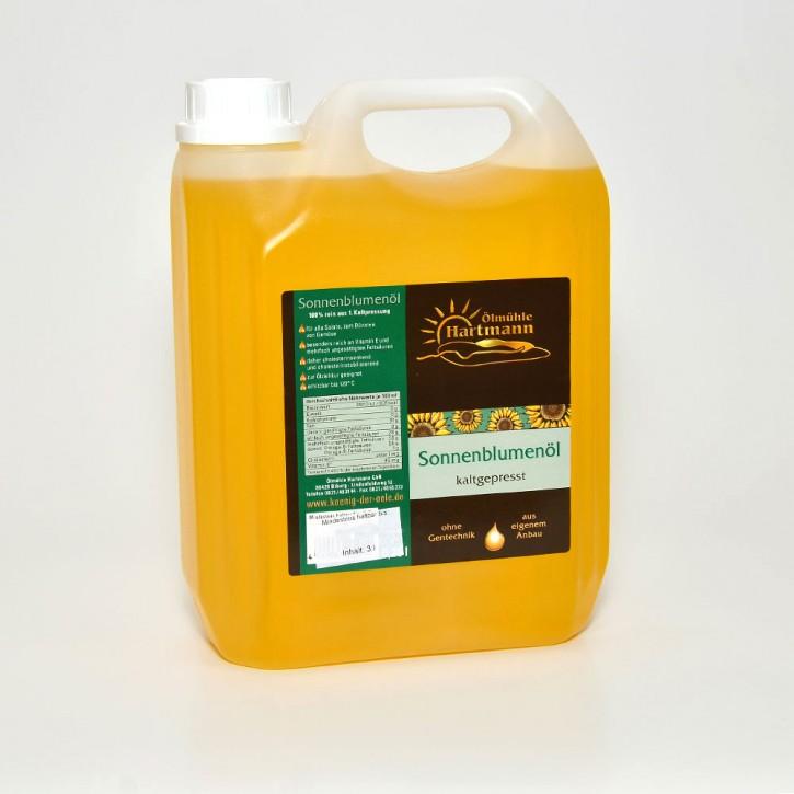 Sonnenblumen-Öl, kaltgepresst, 3 l